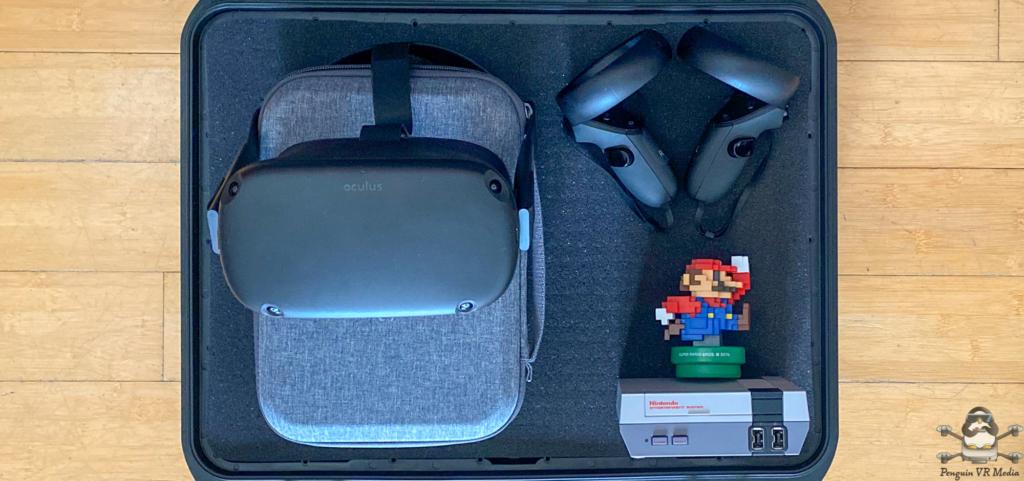 Oculus Quest VR Headset controlers NES Mario