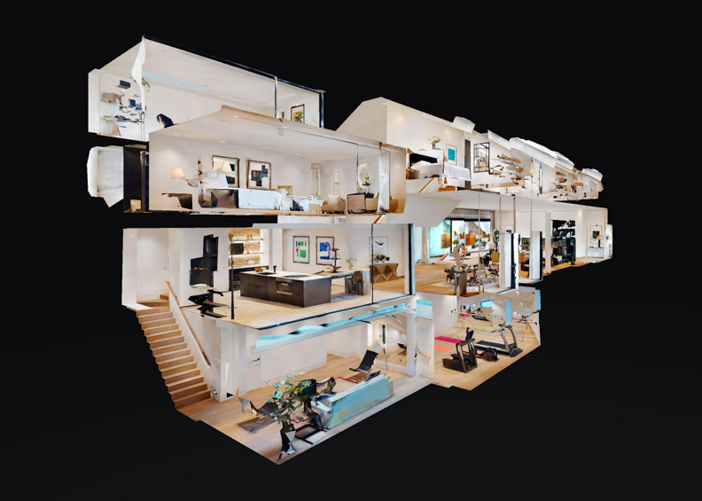 Matterport 3D Dollhouse view for residential real estate
