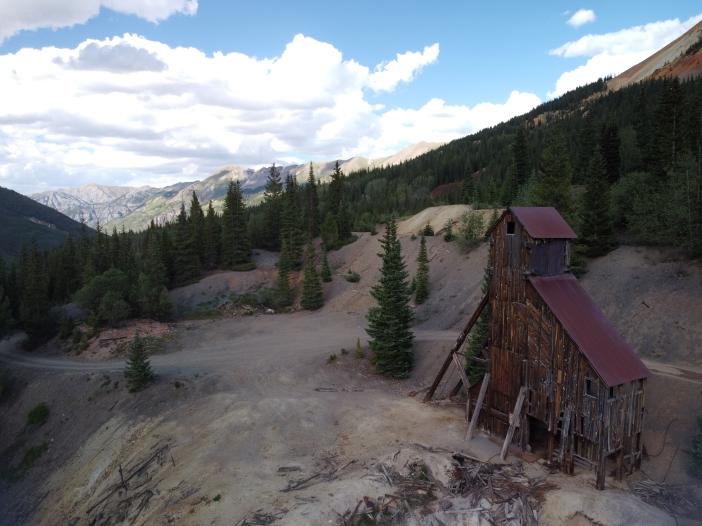 Another unedited JPEG image straight from the DJI Mavic Mini camera. Silverton Colorado