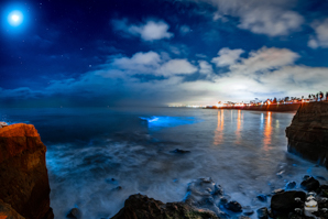 Bioluminescence at Sunset Cliffs, San Diego