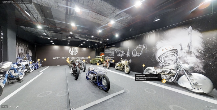 Business 3D Virtual Tour of a motorcycle gallery