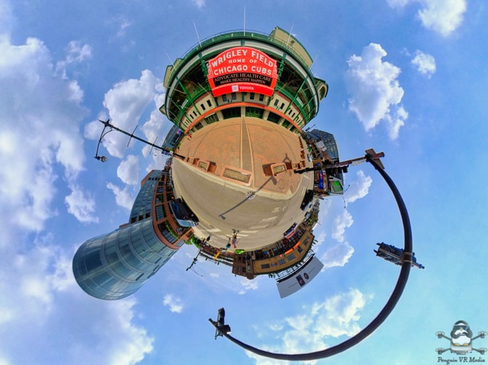 nsta360 One R Tiny Planet Chicago Cubs Wrigley Field